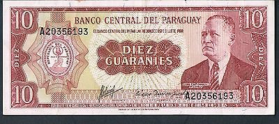 PARAGUAY BANKNOTE 10 P196b 1963 GVF