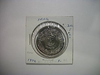 """Iraq 1972 250 Fils """"The Jubilee by Al Baath Party"""" Dates Palm Trees foreign coin"""