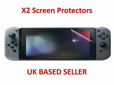 x2 Screen Protector Clear Shield PET Guard Cover For Nintendo Switch