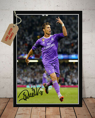 Cristiano Ronaldo Real Madrid Champions League Final 2017 Autographed Photo