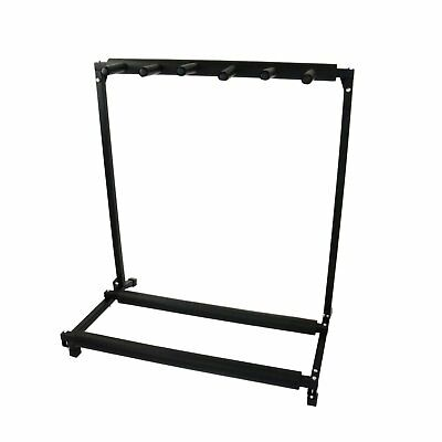 NEW! 5 Way Multi Guitar Rack Holder Stand Electric Acoustic Bass