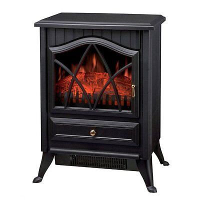NEW! 1850W Log Burner Flame Effect Electric Fireplace Stove Heater