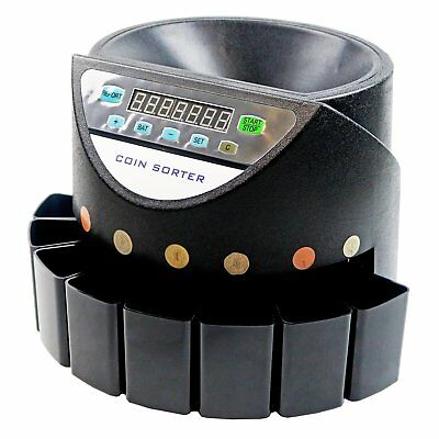 NEW! Heavy Duty Electronic Sterling Coin Counter Cash Sorter