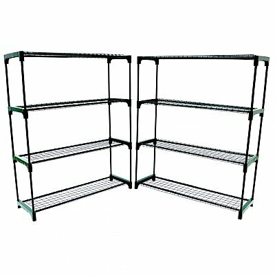 NEW Double Pack Flower Staging Display Greenhouse Racking Shelving