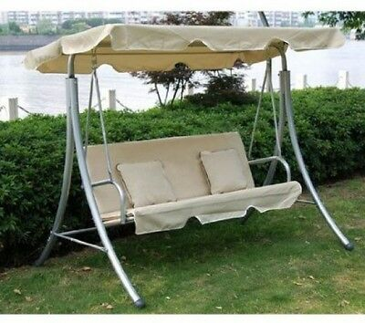 Outsunny 3 Seater Swinging Garden Hammock Swing Seat Chair Bench Luxury +2 Free