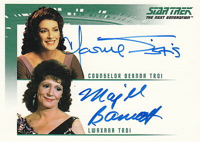 Quotable Star Trek Tng Dual Autograph Card Marina Sirtis And Majel Barrett