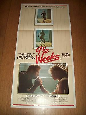 9 1/2 weeks movie poster original Australian day bill Kim Basinger Rourke