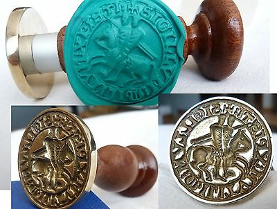 TEMPLAR Wax Seal of THE KNIGHTS of CHRIST  Bronze  stamp