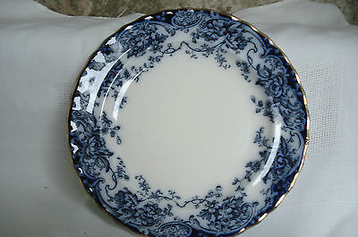 """Late Mayers Keeling Losol Chatsworth Flow Blue 10"""" Dinner Plate Antique"""