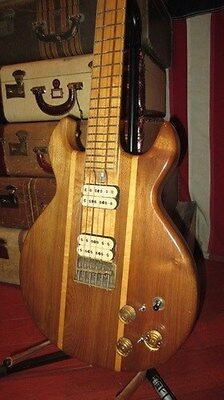 """Vintage 1970's SD Curlee """"Curbeck"""" Solidbody Electric Guitar Natural Walnut Cool"""