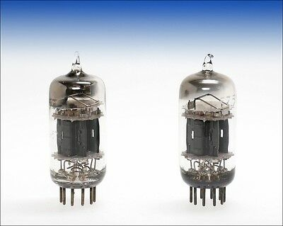 pair 5751 TUNG-SOL square D horseshoe getter black plate triple mica audio tube