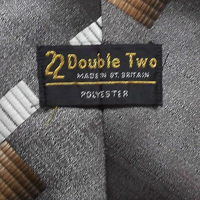 DOUBLE TWO 22 BROWN MODERNIST VINTAGE 1970s WIDE TIE RETRO MOD RETRO FUNKY