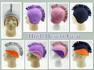 Girls/Boys Mohawk Fleece Winter Hat Unisex Children Headwear High Desert Gear