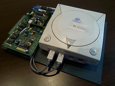dreamcast recreativa jamma pcb + juego sega naomi arcade + eighteen wheeler game