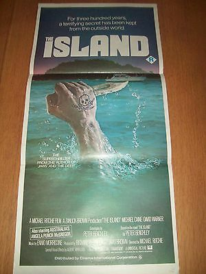 The Island movie poster original Australian day bill Michael Caine David Warner