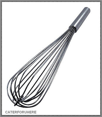 "PRO HEAVY DUTY BALLOON WHISK WHIP MIXER 19"" 50cm STRONG S STEEL KITCHEN CATERING"