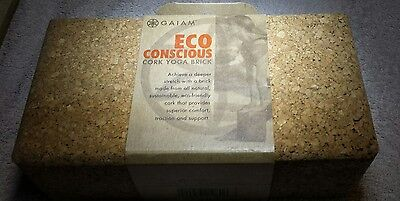 Gaiam Eco Conscious  Cork Yoga Brick Block.       9 x 4 3/4 x 3