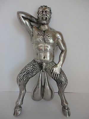 Bronze Türklopfer Door Knocker Figure Cast Bells Satyr Pan Roman Victorian Style