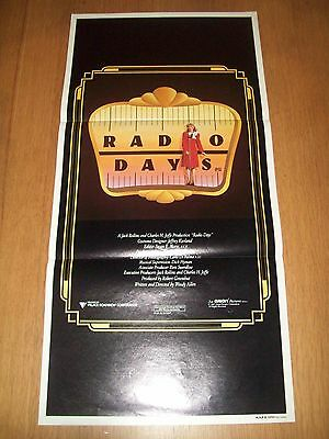 Radio Days movie poster original Australian day bill Woody Allen