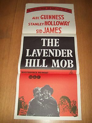 the Lavender Hill Mob movie poster original Australian day bill Alec Guinness