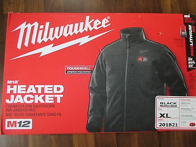 Milwaukee M12 Heated Jacket - Black - XL - with battery
