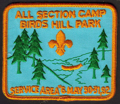 Boy Scouts Canada Birds Hill Camp 1992  Embroidered Patch