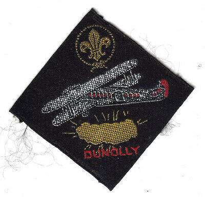 Boy Scouts Australia Dunolly Troop Biplane Gold Nugget Embroidered Patch