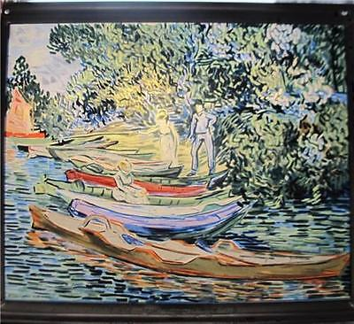 "Stained Glass by Vincent Van Gogh ""Bank of Oise at Auvers"" Glassmaster Window"