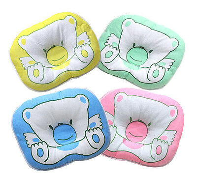 Newborn Infant Bear Pattern Pillow Baby Support Cushion Pad Prevent Flat Head