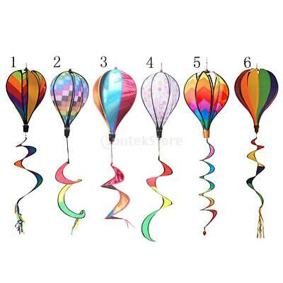 Outdoor Hot Air Balloon Wind Spinners Garden Yard Lawn Home Decor Kids Toy