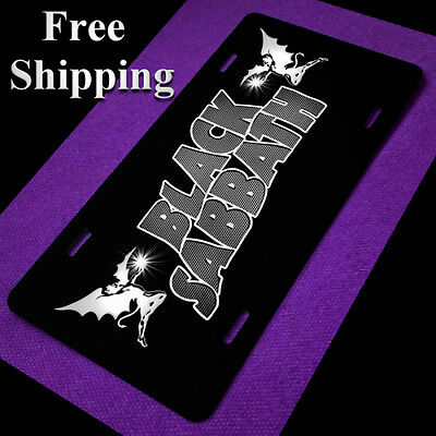 Black Sabbath License Plate Metal Car Tag Sign Ozzy