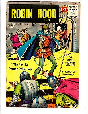 Robin Hood Tales 6 (1956): FREE to combine- in Good condition