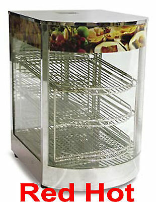 Omcan 21829 Counter Top Pizza Food Warmer Display Case 3 Shelf's DW-CN-0349