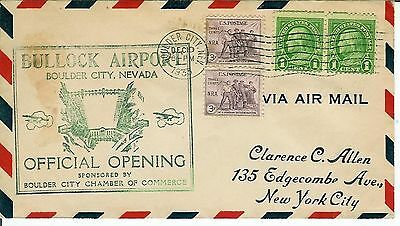 Bullock Airport Official Opening 1933 Boulder City Nevada Airmail Aviation