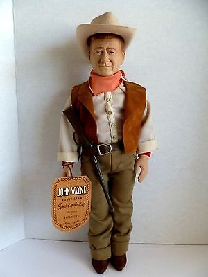 Signed By Son Effanbee John Wayne American Symbol Of The West Commemorative Doll