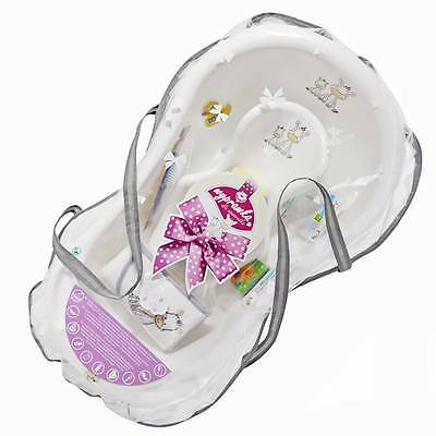 Newborn Baby Shower Gift Set bath gift Zebra collection with accessories WHITE