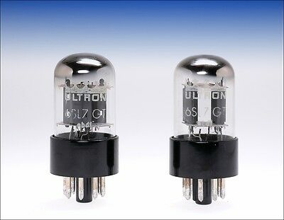 matched pair NOS 6SL7 6SL7GT ULTRON Germany audio tube !