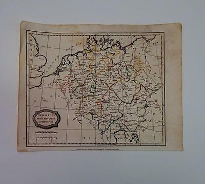 1807 Barlow Engraved Map of Germany by Brightly & Kennersley