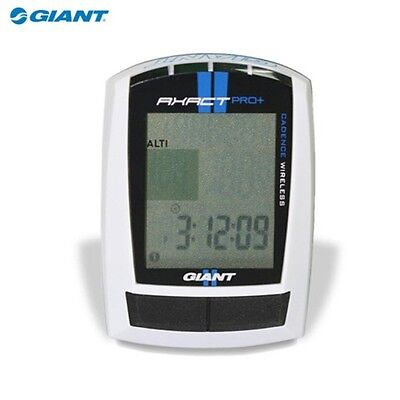 Giant Axact Pro 25 Function Wireless Cadence Lcd Bike Computer Odometer White