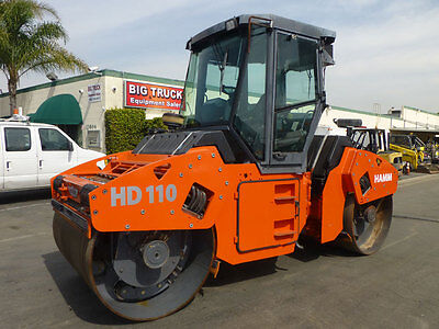 2002 Hamm HD110 Diesel Vibratory Smooth Drum Roller Compactor, 1981 Hours.