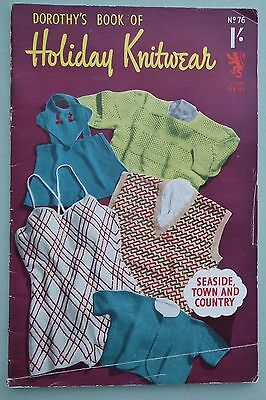 VINTAGE 1940s DOROTHY'S BOOK OF HOLIDAY KNITWEAR knitting patterns original 40s