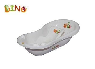DINO Baby Newborn 2pcs Bath Tub with plug Set with Bath Support anti slip mat