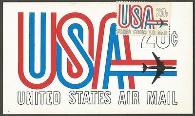 United States 20C Air Mail Post Card Society Of Philatelic Americans
