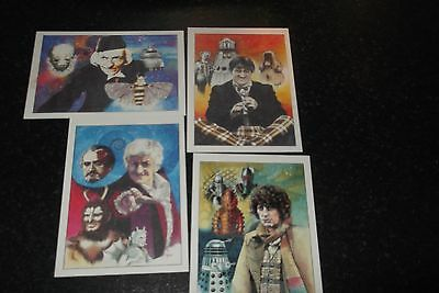 set of limited edition  doctor who post card prints  rare  doctor who