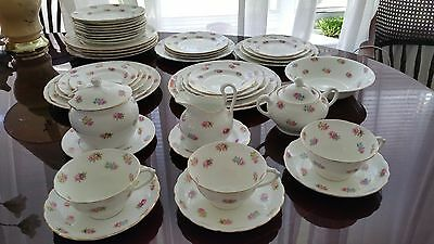 Tuscan Plant China SET 43pc BREAKFAST CUPS & SAUCERS Vintage
