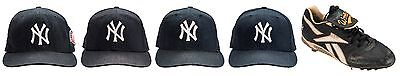 LUIS SOJO Game Used 4 New York Yankees Caps & 1 WORLD SERIES CLEAT *AUTO *LOA