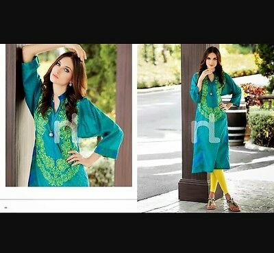 New Nishat Linen Lawn Pret Embroidered Kurta Size Small *with Leggings*
