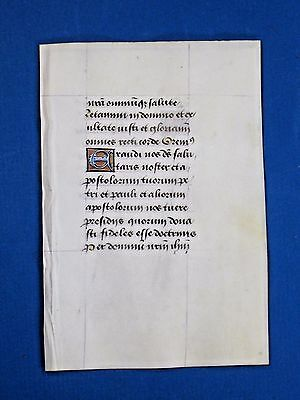 Fine Medieval Book of Hours,Manuscript Lf,Vellum,Deco.colorful Initials,c.1485