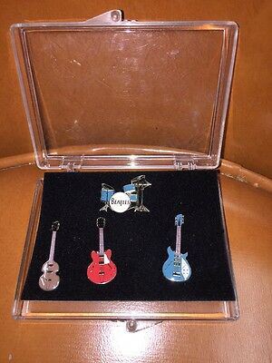 The Beatles Instruments 25th Anniversary Collector Series Cloisonne Pin Set