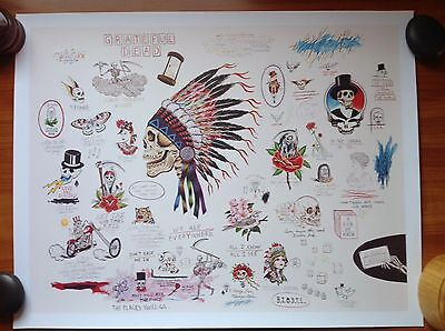 "Grateful Dead Spring 1990 Wes Lang ""Sketch"" Print - RARE Limited Edition 250"